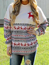 Load image into Gallery viewer, Fashion Printed Round Neck Sweatshirts Tops