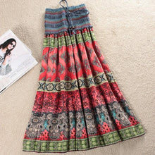 Load image into Gallery viewer, Fashion Elastic Waist Bohemian Style Floral Women Skirt