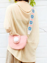 Load image into Gallery viewer, Wide shoulder strap flip cover cute cloth crossbody bag
