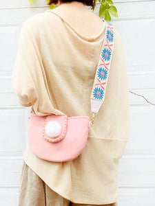 Wide shoulder strap flip cover cute cloth crossbody bag