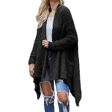 Load image into Gallery viewer, Women Casual Long Sleeve Irregular Hem Solid Pocket Cardigan Tops Blouse Coat Sweater Knitted Female Cardigan Pull Femme