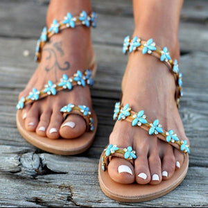 Flat Bottomed Large Size Hollowed Sandals