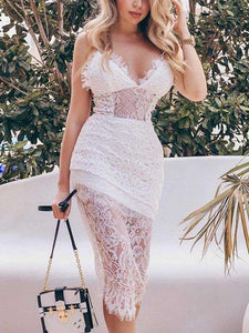 Sexy Breech Lace Dress