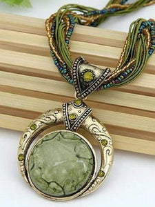 Hand-woven Bohemian Round Necklace