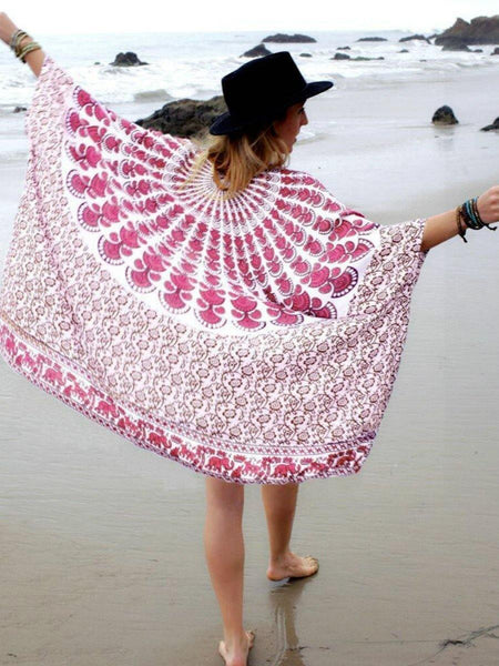 Chiffon Print Beach Sunscreen Cardigan Hood