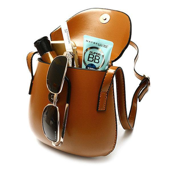 Women PU Leather Mini Crossbody bag Bucket Bag Phone Bag