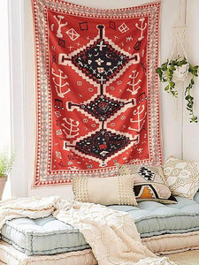 Bohemia Multifunctional Floral Printed Tapestry Decoration