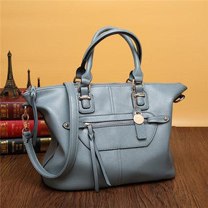 Women Genuine Leather Stylish Zipper Handbag Shoulder Bags Crossbody Bags