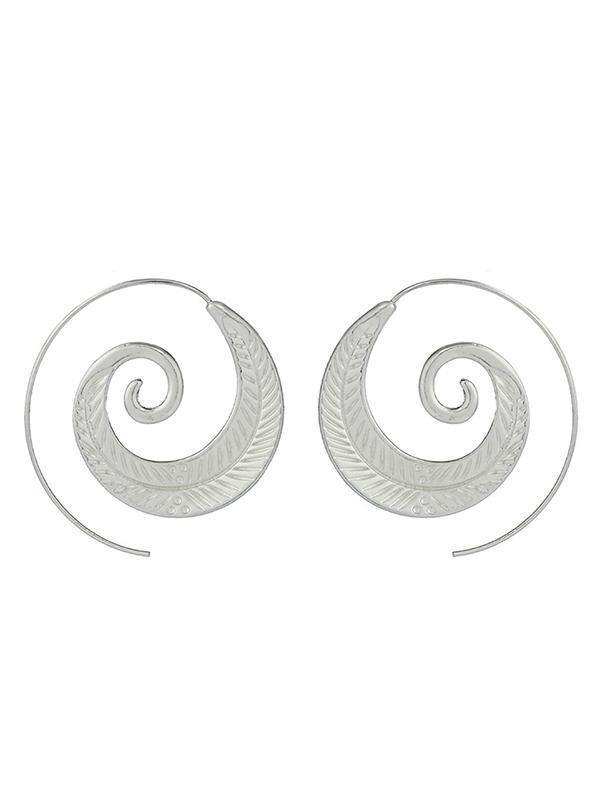Retro Bohemia Alloy Hollow Earrings Accessories