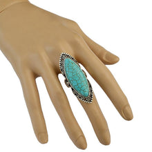 Load image into Gallery viewer, Vintage Bohemian Natural Stone Turquoise Adjustable Rings Jewelry