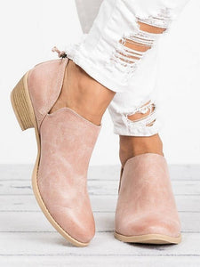 Autumn Square Heel Shoes Pointed Toe Casual Shoes