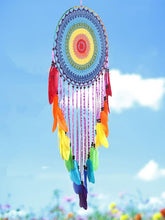 Load image into Gallery viewer, Handmade Colorful Feathers Long Dream Catcher Wall Decoration