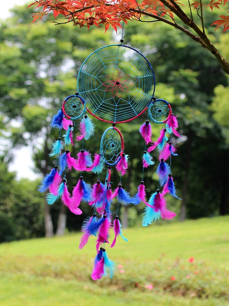 Colorful Feather Home Wall Car Pendant Decoration Dreamcatcher