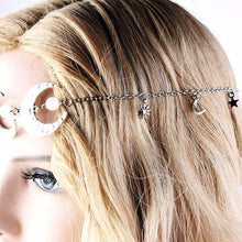 Load image into Gallery viewer, Vintage Hair Accessories Head Chain Double Moon Star Hair Jewelry