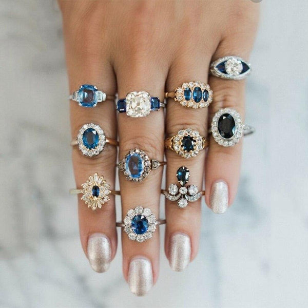 Retro Alloy Finger Rings Jewelry