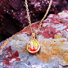 Load image into Gallery viewer, Natural Lava Gem Stone Necklace Colorful