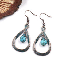 Load image into Gallery viewer, Vintage Water Drop Stone Dangle Earrings For Women