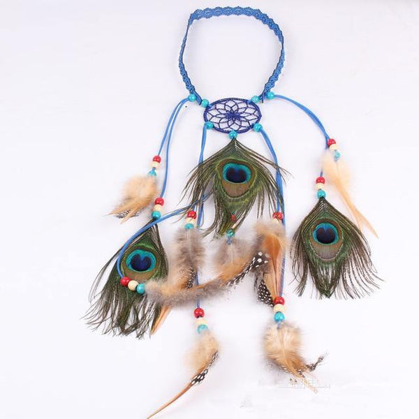 Bohemian Hippie Headband Dream Catcher Feather Headdress Accessories