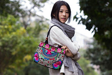 Load image into Gallery viewer, Golden Flower Tibet Style Embroidery Ethnic Travel Women Shoulder Bags Handmade Canvas Wood Beads Handbag