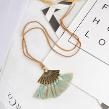 Load image into Gallery viewer, Bohemian Pendant Long Faux Suede Chain Tassel Necklace