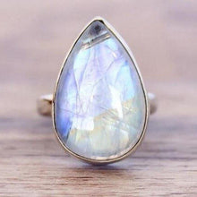 Load image into Gallery viewer, Moonstone Vintage Water Drop White Stone Female Fashion Ring