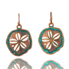 Load image into Gallery viewer, Bohemian Statement Exaggerated antique green metal water drop earrings for women