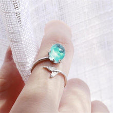 Load image into Gallery viewer, Stylish Design Mermaid Foam Adjustable Women Finger Ring Jewelry