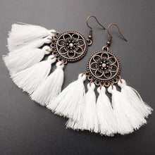 Load image into Gallery viewer, Ethnic Bohemian Drop Dangle Long Rope Fringes Retro Tassel Earrings Women Party Jewelry