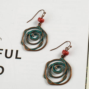 Unique bohemian  ethnic vintage hanging earrings for women