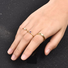 Load image into Gallery viewer, Fashion 4pcs Set Gold Color Plating Simple Boho Rings Women Zircon Bohemian Engagement Rings