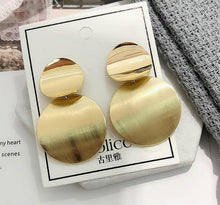 Load image into Gallery viewer, Fashion Women Acrylic Big Round Brincos Zinc Alloy  Accessories Earring