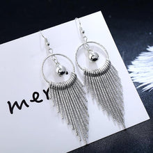 Load image into Gallery viewer, Vintage  Shiny Tassel Long Drop Dangle Earring  for Women