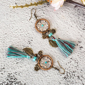 Bohemian Dream Catcher Tassel Earrings Jewelry