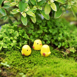 10Pcs Set Easter Party Mini Chicken Ornament Lovely Resin Fairy Miniature Garden Scene Home Garden Crafts Decoration