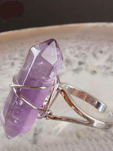 Load image into Gallery viewer, Natural Gem Stone Finger Adjustable Ring Boho Jewelry