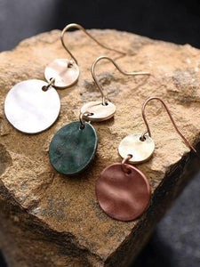 Simple Style Retro Round Drop Ethnic Pendant Fashion Coin Dangle Earring