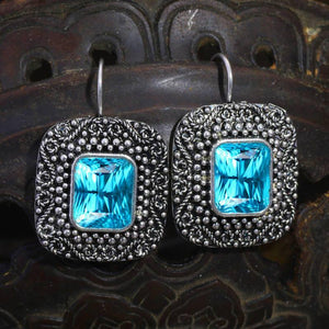 Vintage Zircon Dangle Earrings for Women