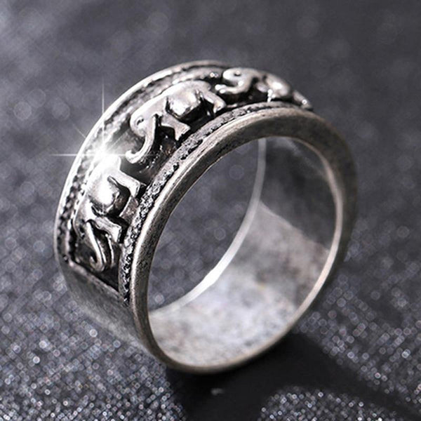 Ethnic Style Classic Elephant Pattern Fashion Ring