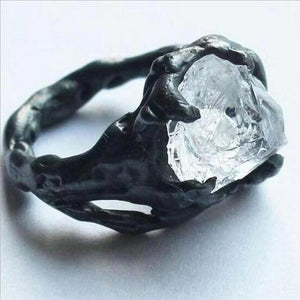 Creative Irregular Exaggerated Hip Hop Gothic Raw Ring