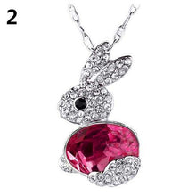 Load image into Gallery viewer, Easter Women Fashion Delicate Rhinestone Little Rabbit Pendant Sweater Necklace Jewelry