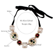 Load image into Gallery viewer, Transparent Metal Strand  For Women Bohemian Multicolored Pendant Necklaces
