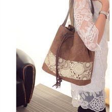Load image into Gallery viewer, Ladies Canvas Totes Casual Large Portable Shopping Bag  Shoulder Bags