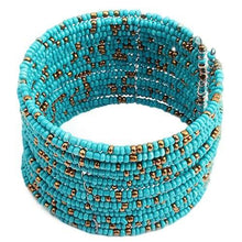 Load image into Gallery viewer, Fashion Women Wide Boho Beads Multi Layer Row Open End Cuff Bracelet Bangle