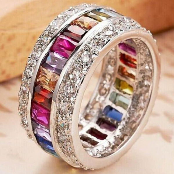 Colorful Women Fashion Jewelry Accessories Circle Ring