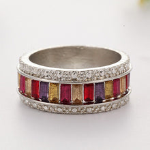 Load image into Gallery viewer, Colorful Crystal Stone Women Fashion Jewelry Accessories Circle Ring