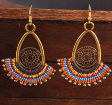 Load image into Gallery viewer, Bohemian Handmade Braided Dangle Women Vintage Female Earrings