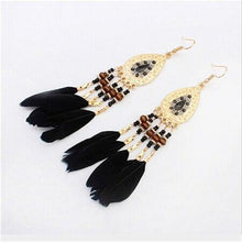 Load image into Gallery viewer, Long Tassel Fashion Feather Style Ethnic Drop Earrings For Women