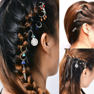 Fashion Boho Kids Adult  Hairpin Compiled Hair Accessories Circle Hoop Jewelry Headwear