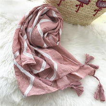 Load image into Gallery viewer, Tassel Autumn Long Cotton And Linen Scarf Shawl