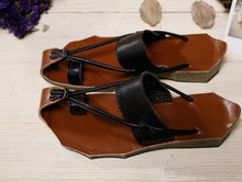 Load image into Gallery viewer, Women Summer Leather Sandals